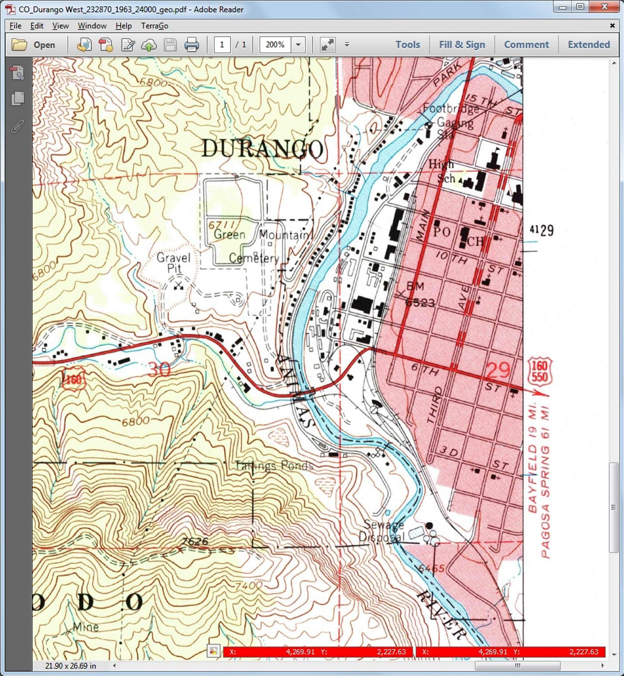 Action Line Mercy cleaned daily Durango topo maps untouched since 1963