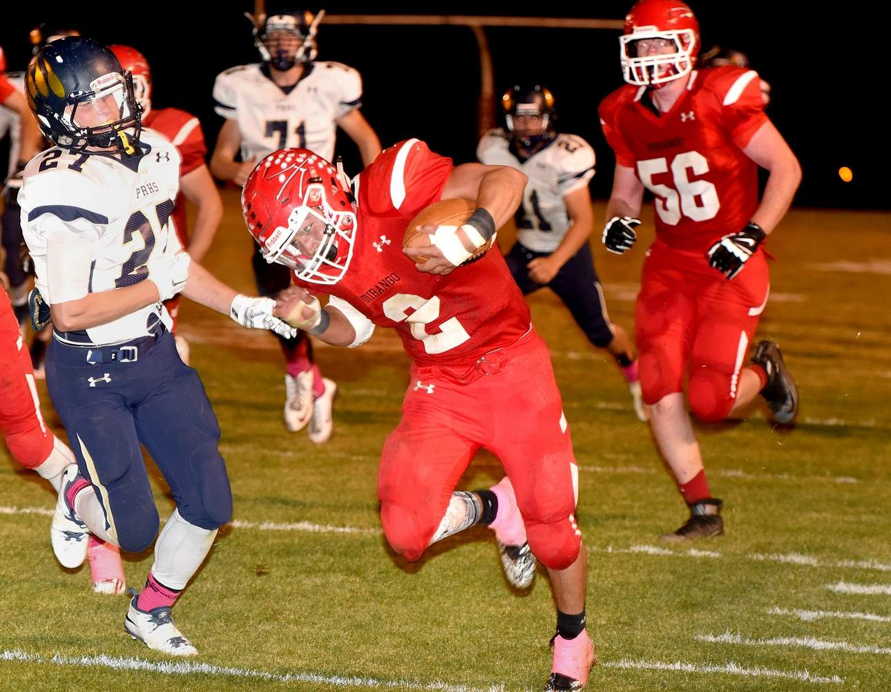 no durango football hopes to take the air out of air academy after being held to less than 100 yards last week for the first time all season durango high school senior running back lawrence berry will hope for