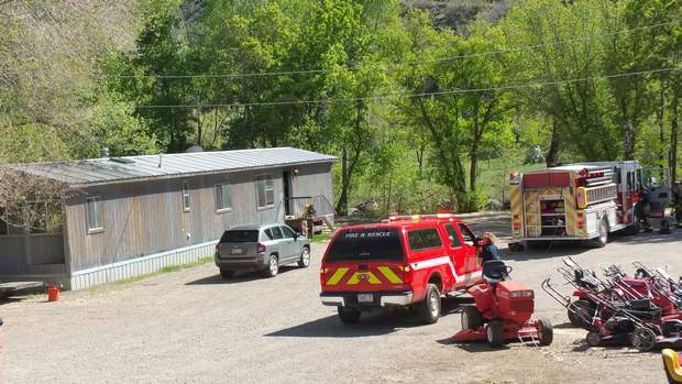 The Durango Fire Protection District responded to a mobile home fire shortly before 4 p.m. Saturday near the Durango Dog Park. A Durango man who lived in the home is suspected of intentionally setting the fire.