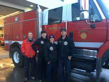 Four Durango Fire Protection District crew members deployed Thursday to a wildfire in Georgia. From right to left are Engine Boss Allen Ottman, Engine Operator Adi Miller and firefighters Sean Ratzmann and Nate Murano.