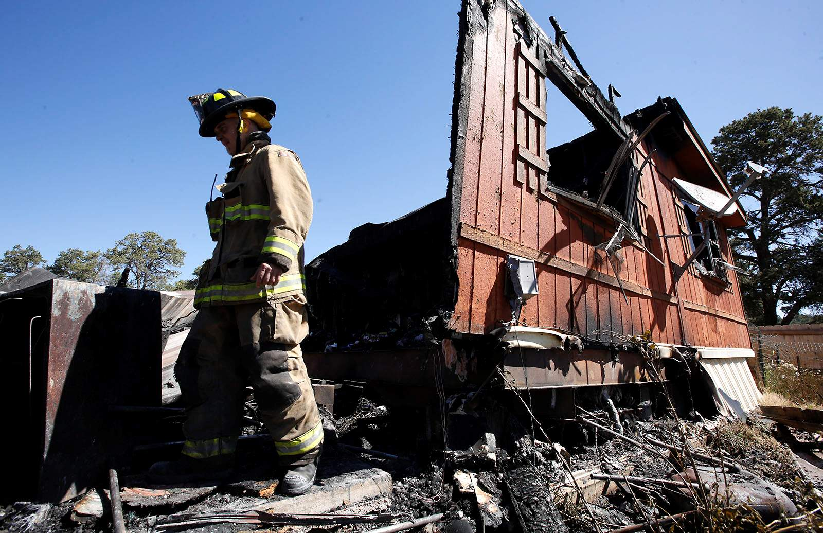A mobile home was destroyed in an early morning fire Monday...