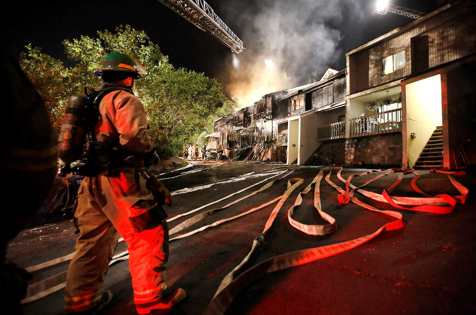 A deadly fire claimed one man's life, sent three...