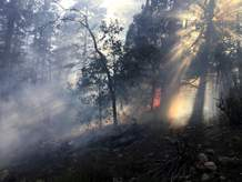 Pre-firing operations started Wednesday in the HD Mountains to expand the 842 Fire. The fire was caused by lightning and had burned about 35 acres as of Thursday morning. Expanding the fire will improve forest health, according to the U.S. Forest Service.