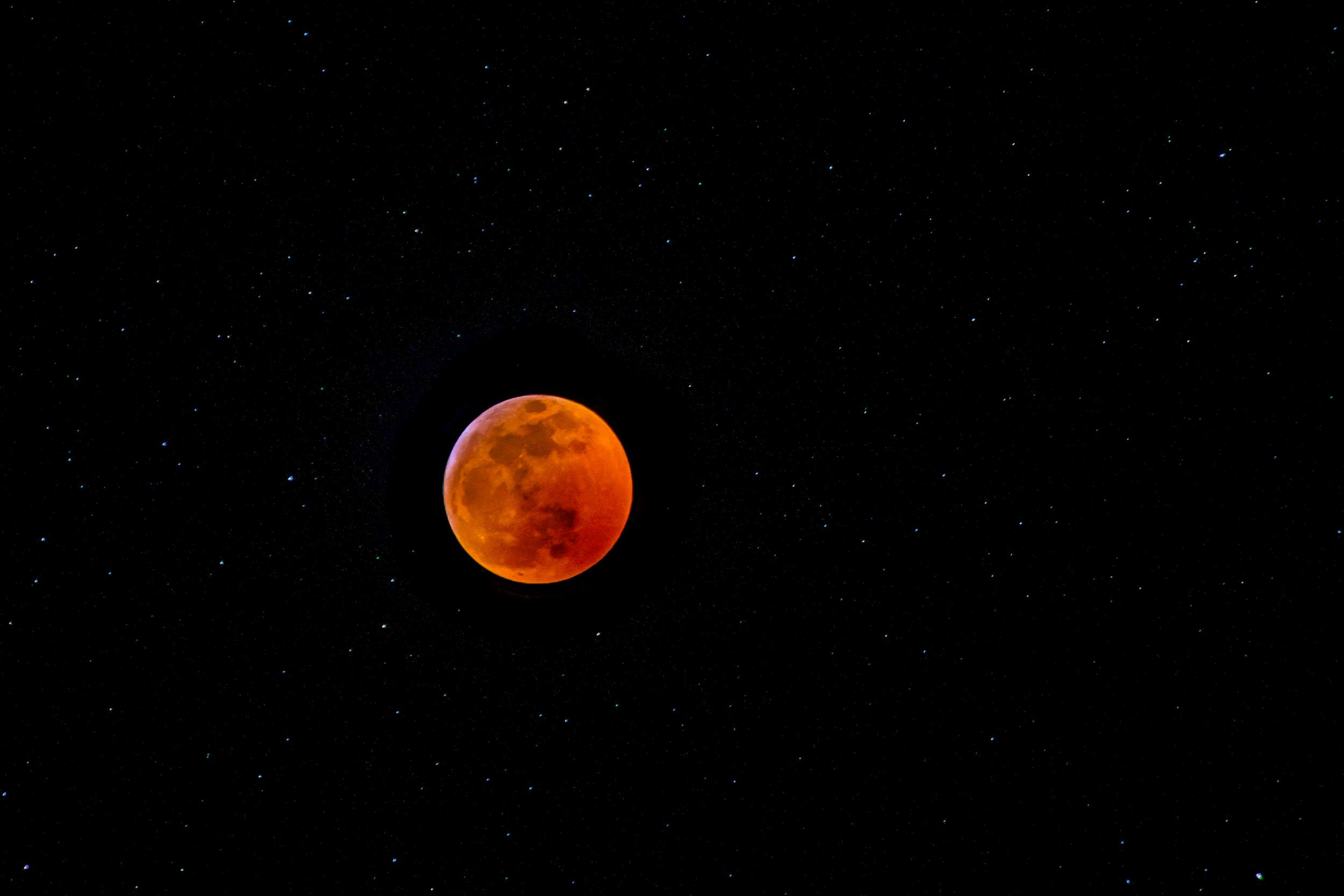See a rock smack the moon during the super blood wolf eclipse