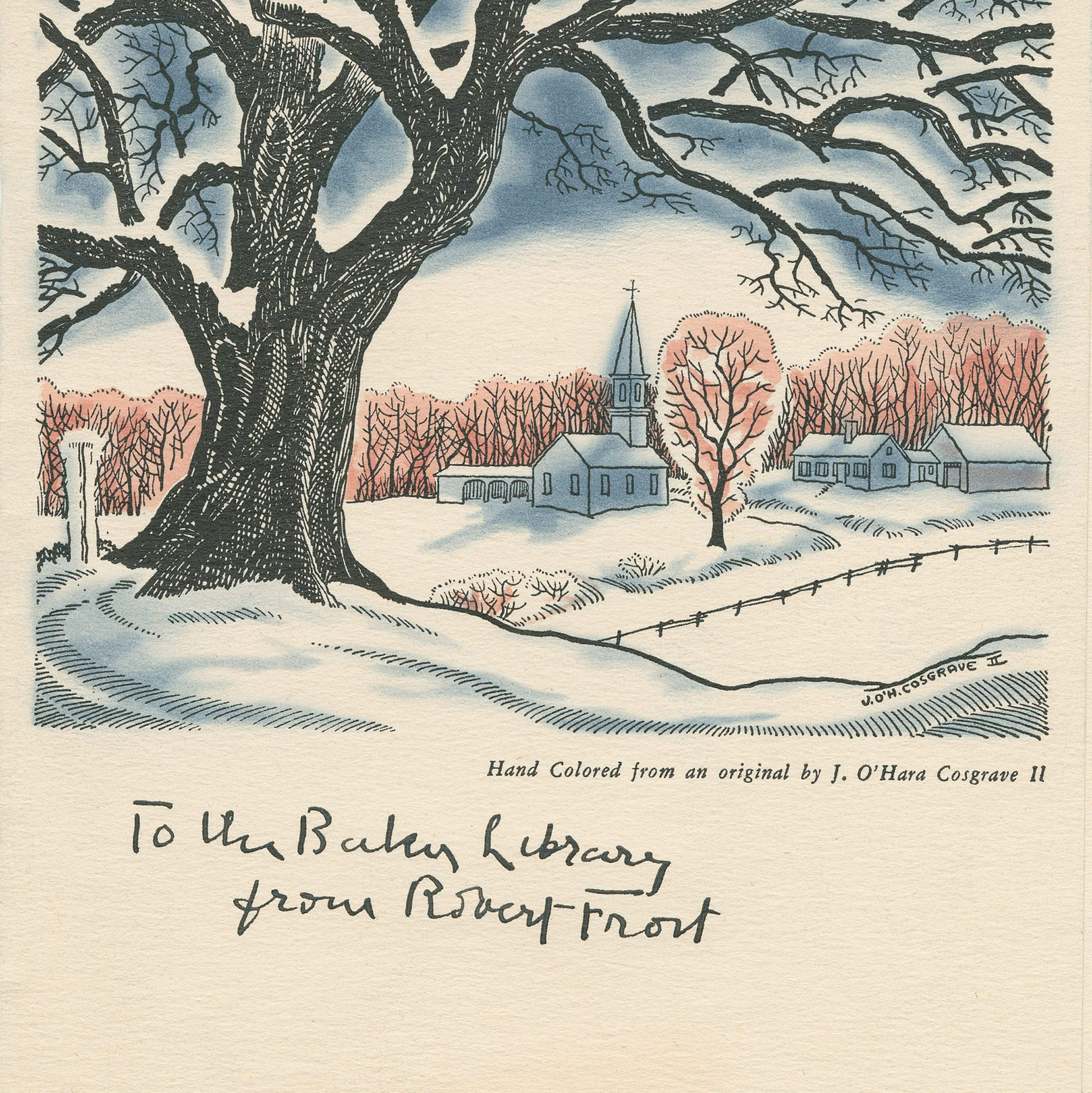 Robert Frost\'s legacy lives on in Christmas cards