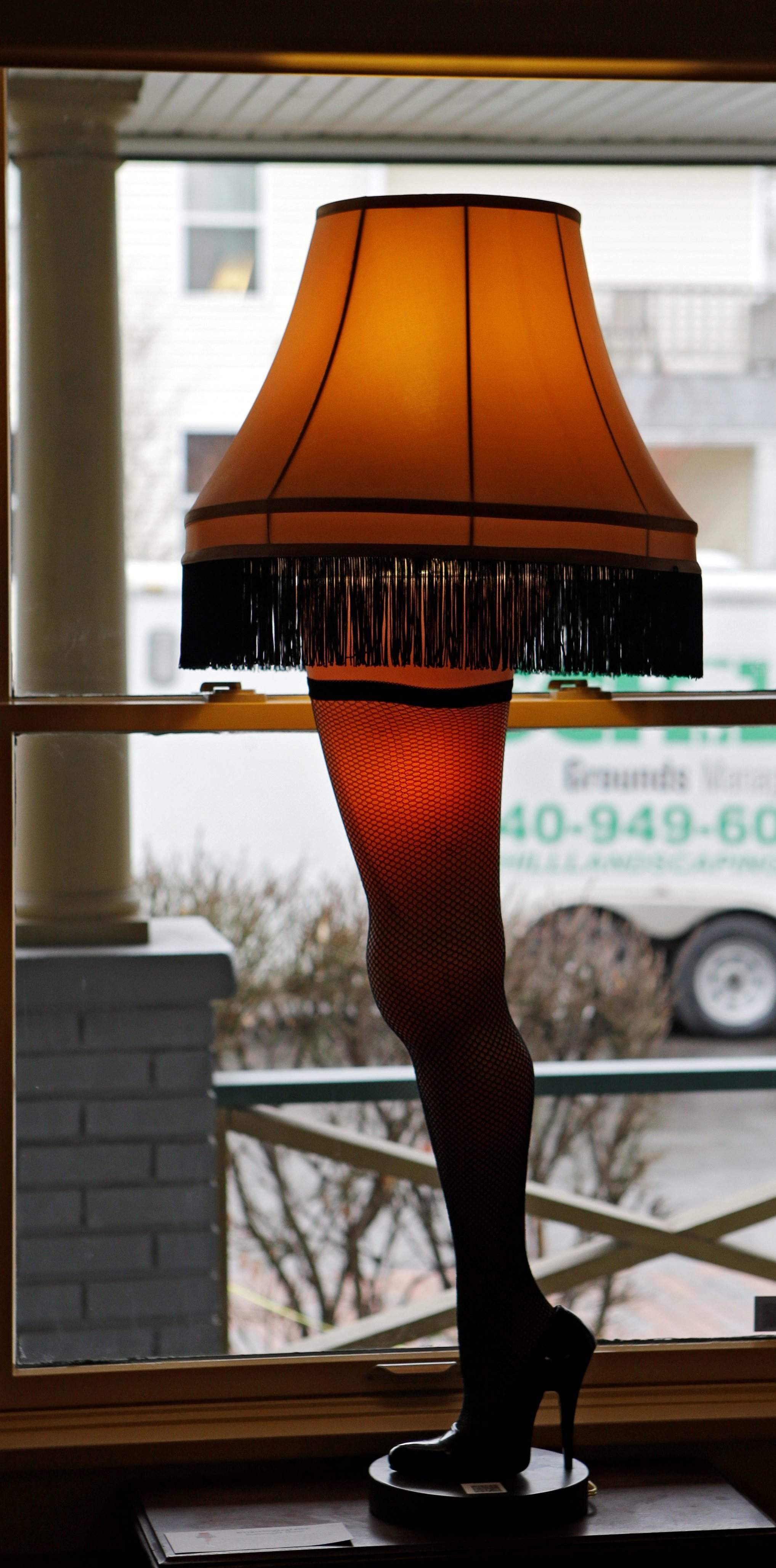 a leg lamp is framed in the window of the house in cleveland where much of the 1983 movie a christmas story was filmed a surge of visitors is expected to - Where Was The Christmas Story Filmed