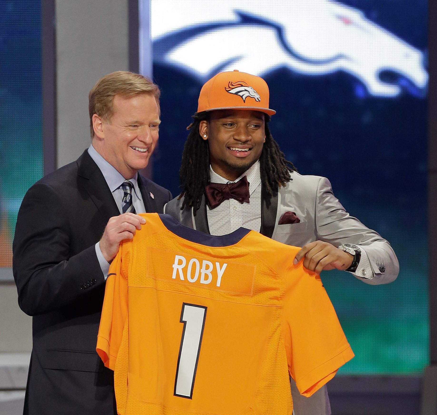 dcd4a958b Broncos corner Roby with the 31st pick