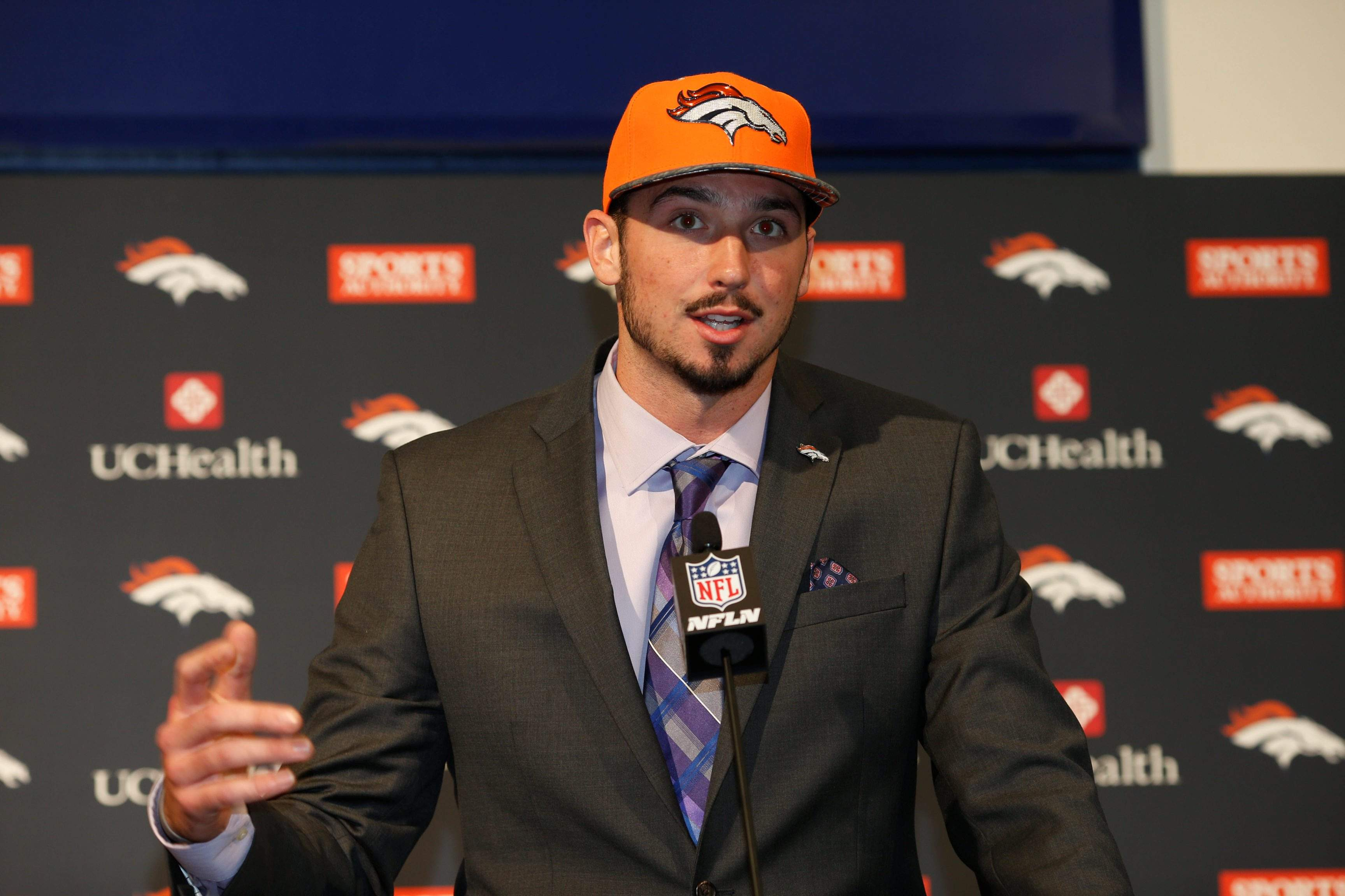0bff42cddc8 Denver Broncos  first-round selection Paxton Lynch of Memphis will have a  chance to compete for the starting job right away. At 6-foot-7