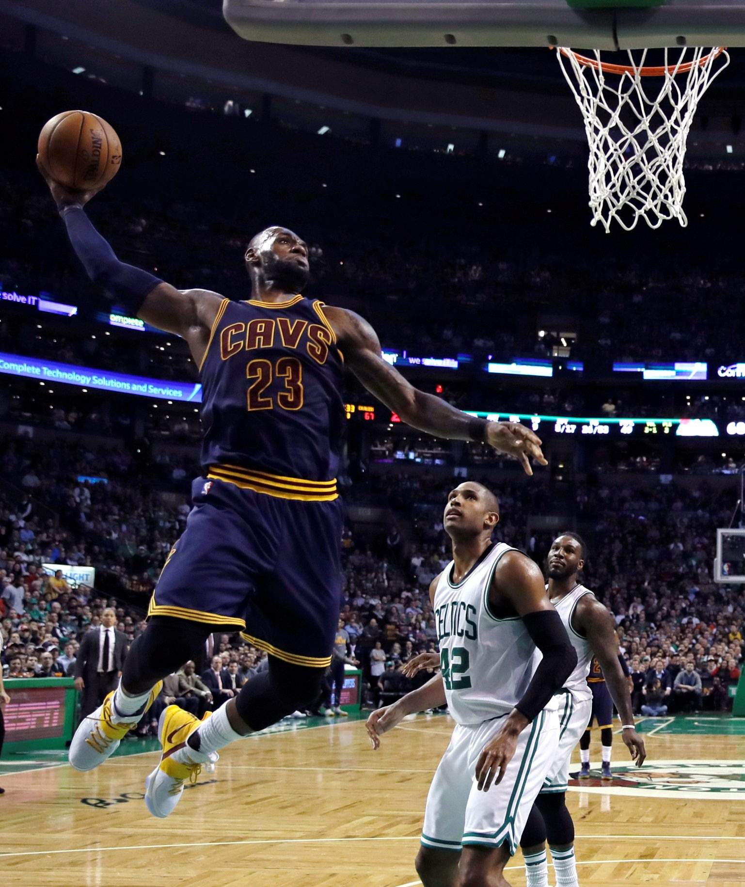 d0d500d86f428 Cleveland Cavaliers forward LeBron James (23) lines up a dunk against  Boston Celtics center Al Horford (42). The defending champion Cavaliers  have been ...
