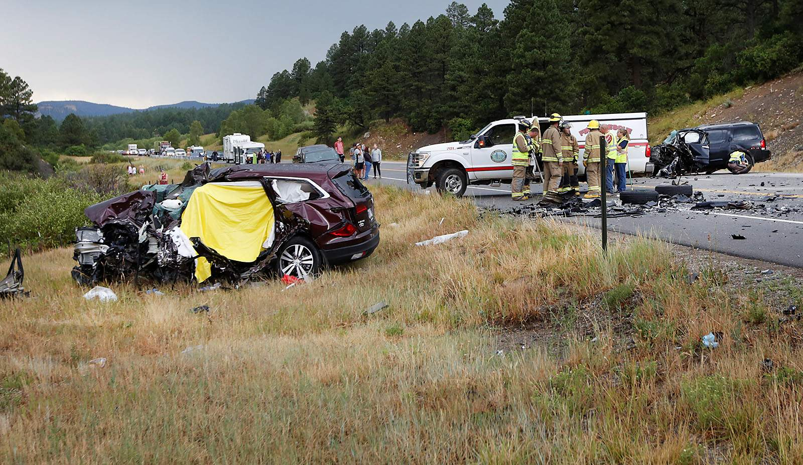 Two victims in Hwy  160 head-on crash identified