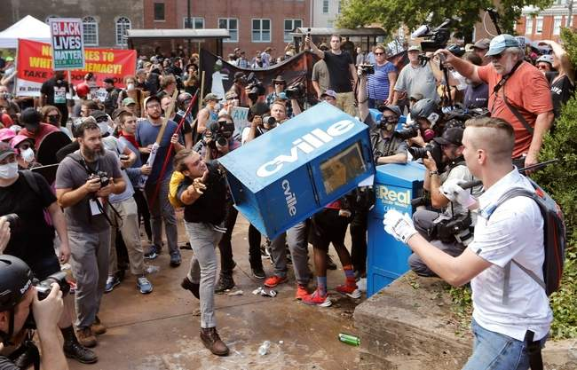 Image result for images of violence at Charlottesville in VA