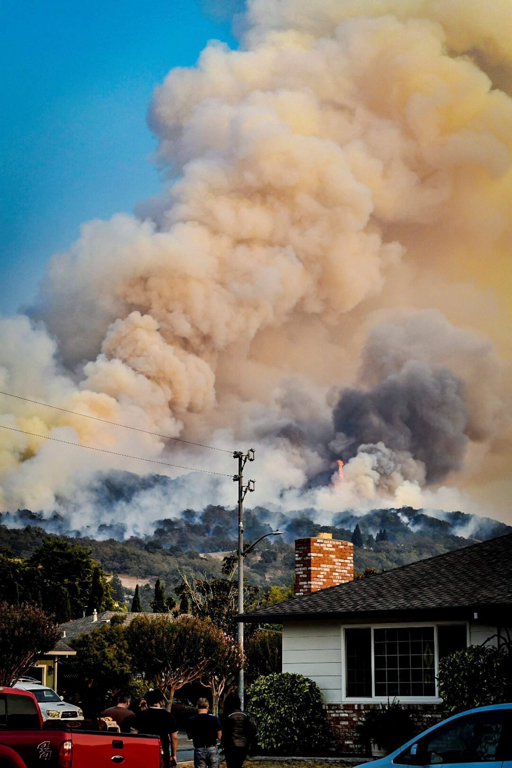smoke rises from fires in santa rosa calif on wednesday