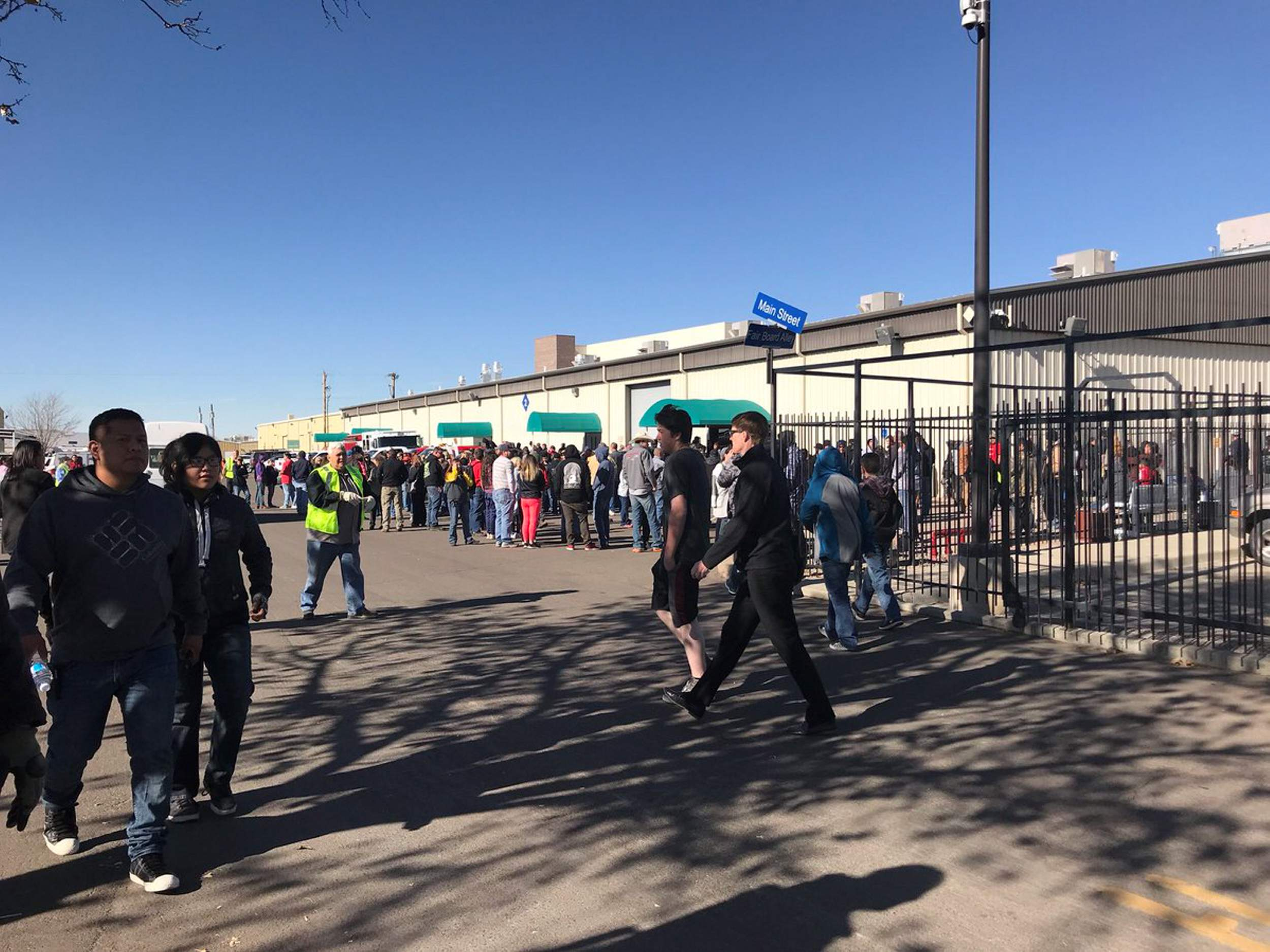 Aztec High School is shown on Dec. 7, 2017, after a gunman opened fire in  the school, killing two students. The Aztec superintendent testified  Thursday ...