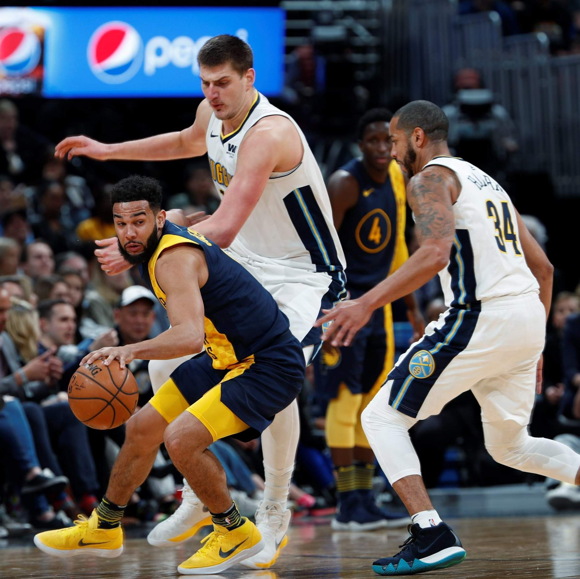 Nikola Jokic Scores 30, Nuggets Hold Off Pacers