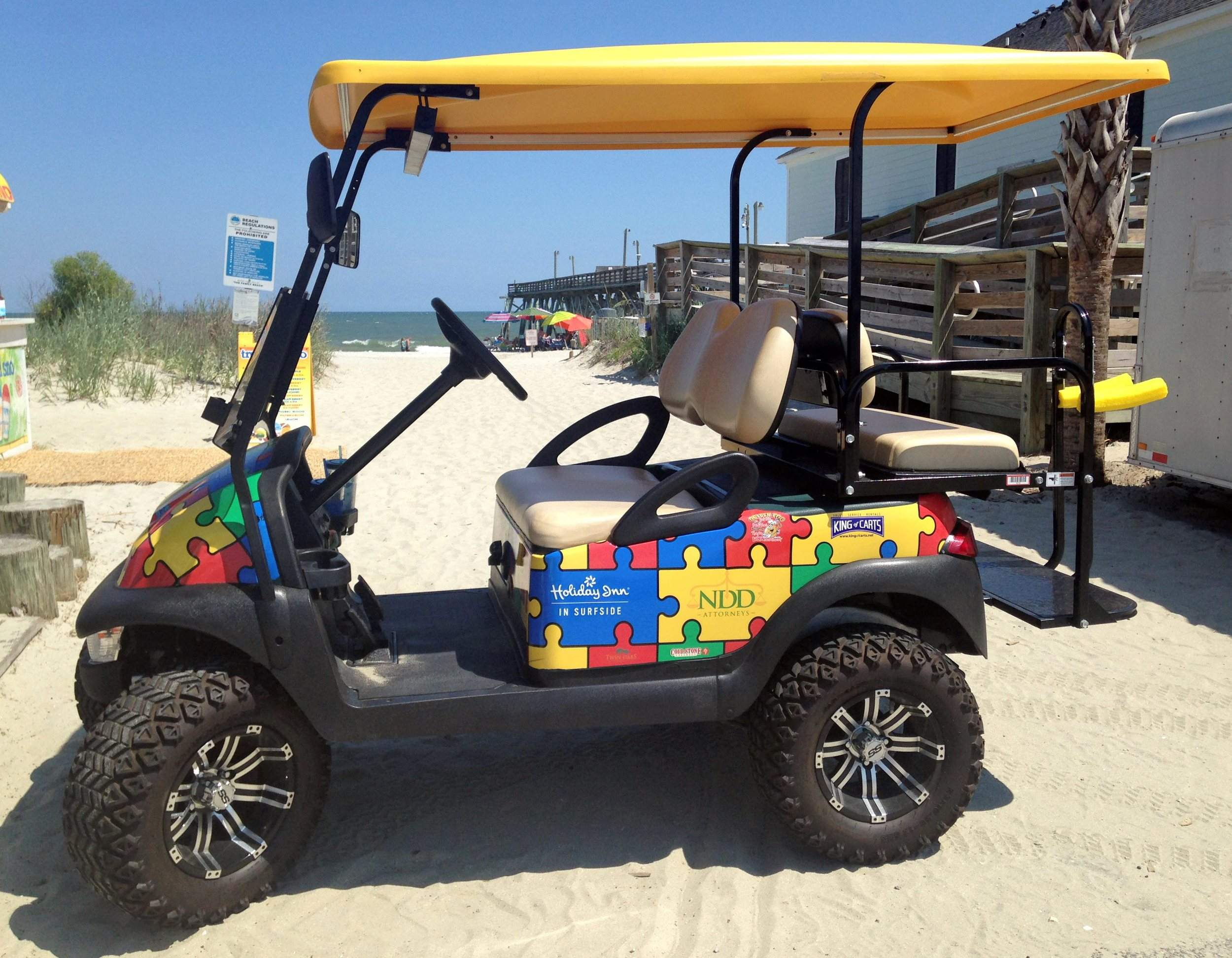 How do you make a destination autism-friendly? Sponsors Electronic Golf Carts on golf hole 8, golf lunch sponsor, beverage cart sponsor, golf hole sponsor,