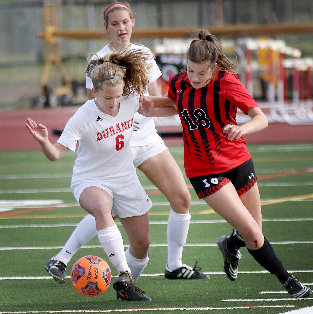 durango girls soccer blows by montrose on senior day