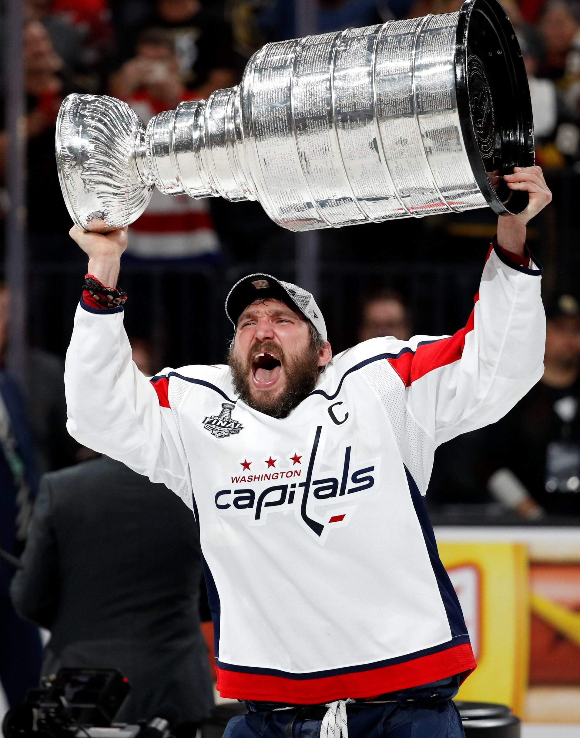 Washington Capitals captain Alex Ovechkin hoists the Stanley Cup after the Capitals  defeated the Golden Knights in Game 5 of theStanley Cup Final on ... 2d121944ac12