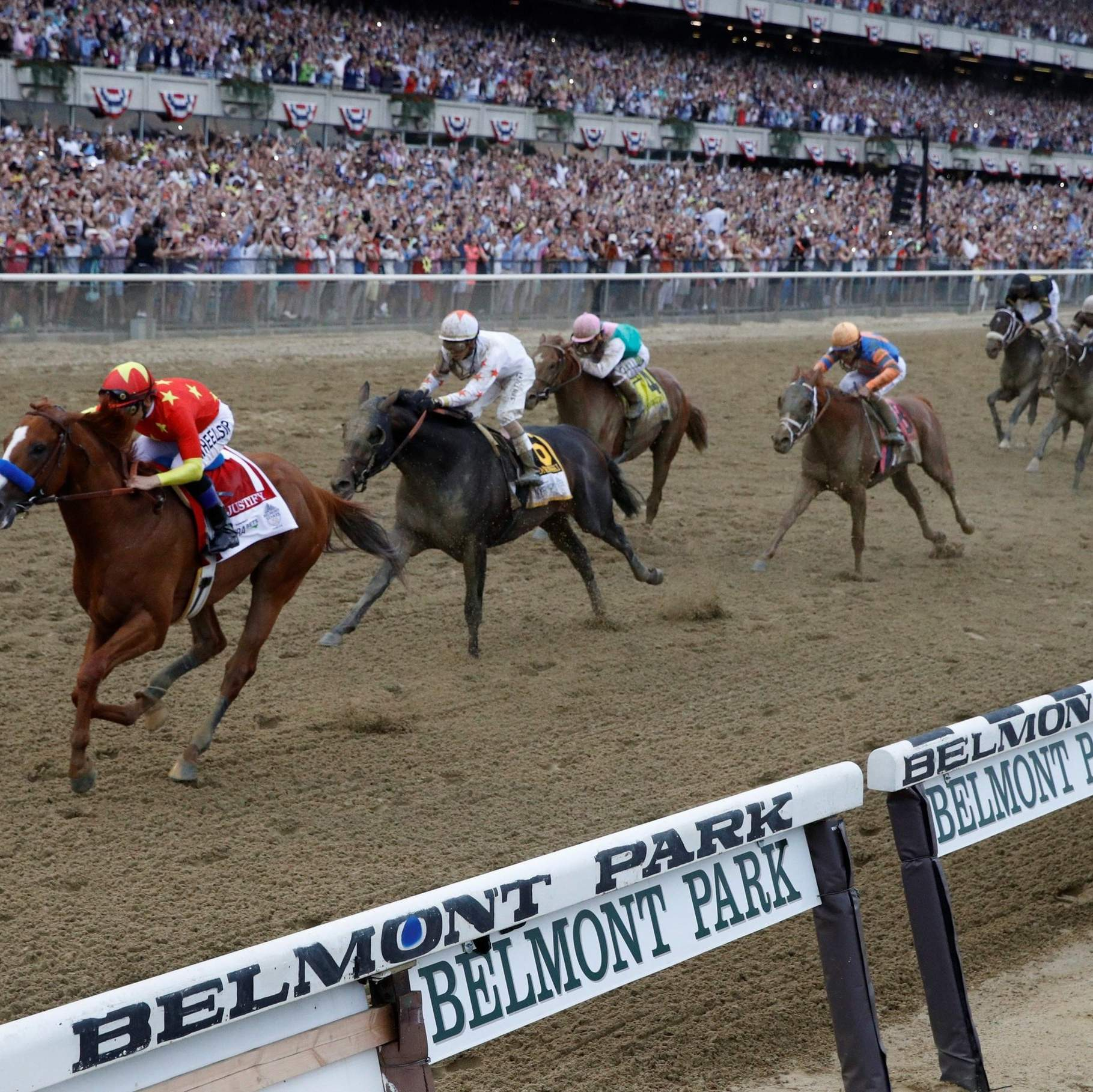 Justify Wins Belmont To Become Horse Racing S 13th Triple