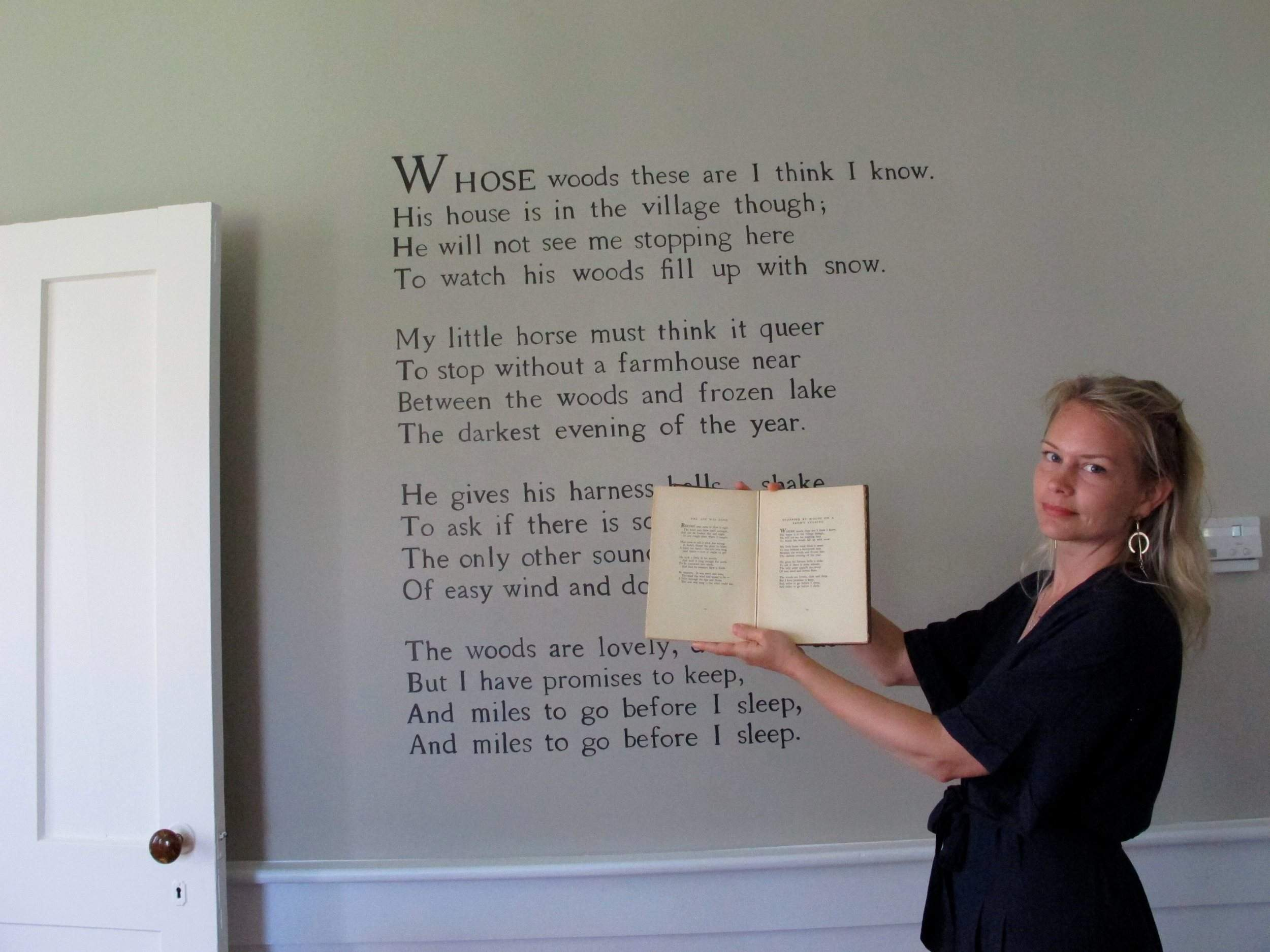 Miles To Go Before I Sleep Robert Frost Museum Reopens