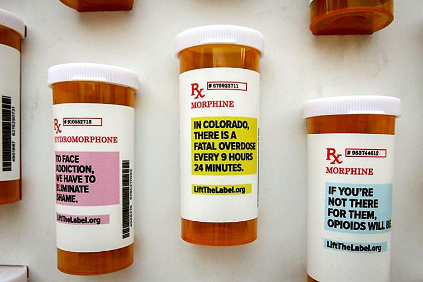 The Pill Bottles And Their Messages Make Up Memorial Wall That Is Part Of Lift Label Campaign