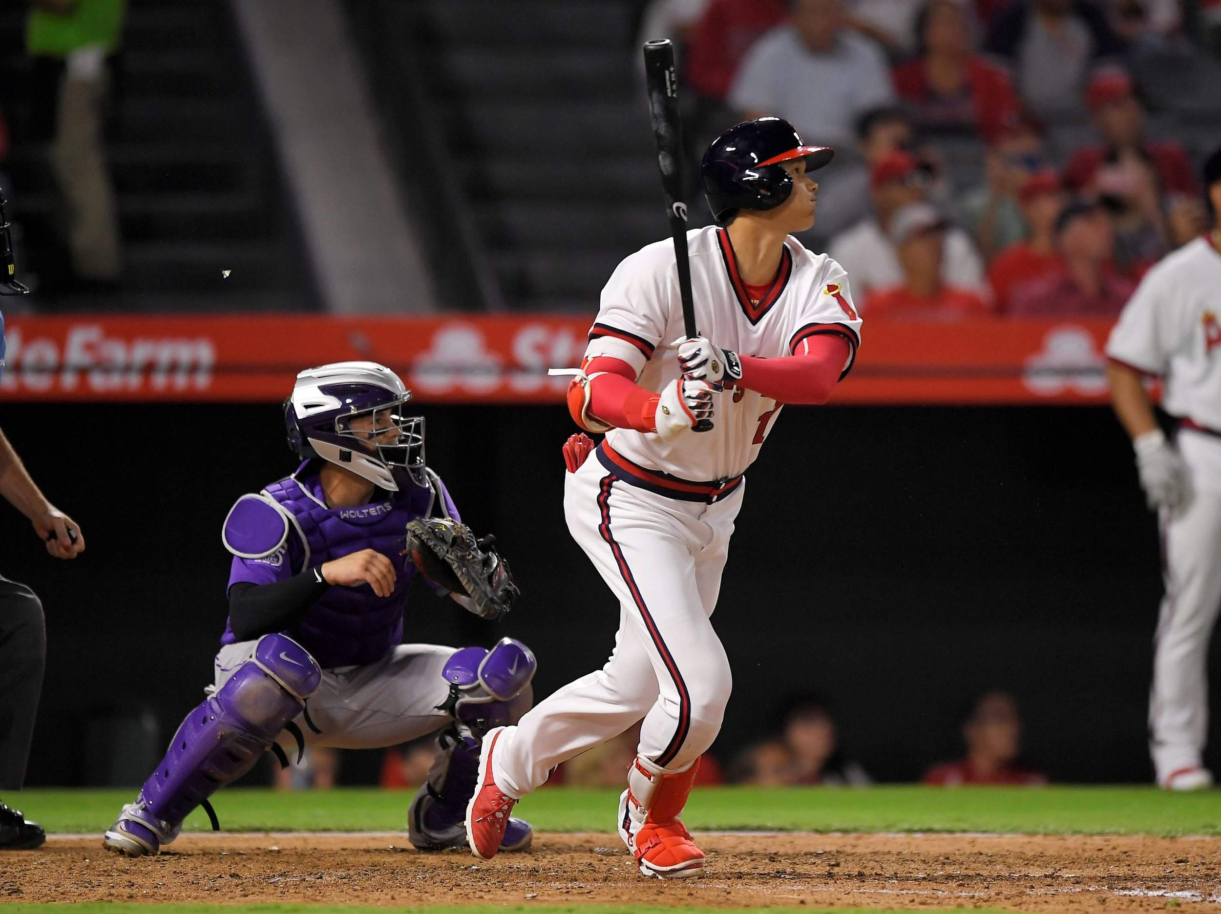 100% authentic 8f724 6f547 Mike Trout, Shohei Ohtani homer; Angels rally past Rockies