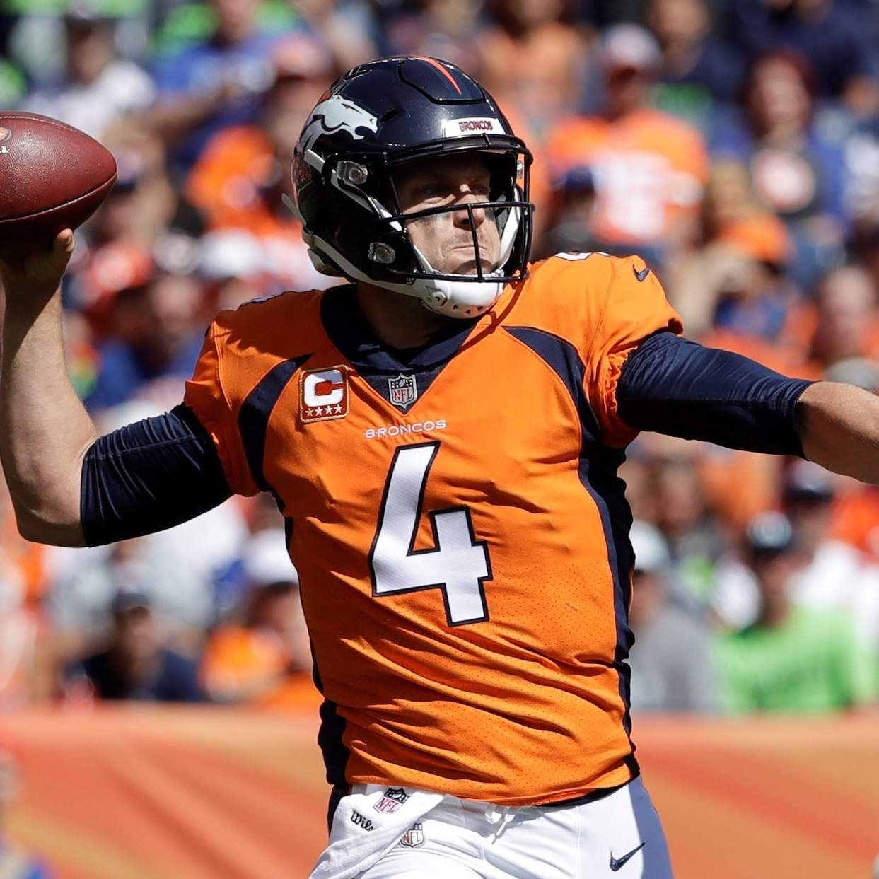hot sale online 4fe3b cb71f Broncos' Case Keenum on clean-up duty up after 3-turnover debut