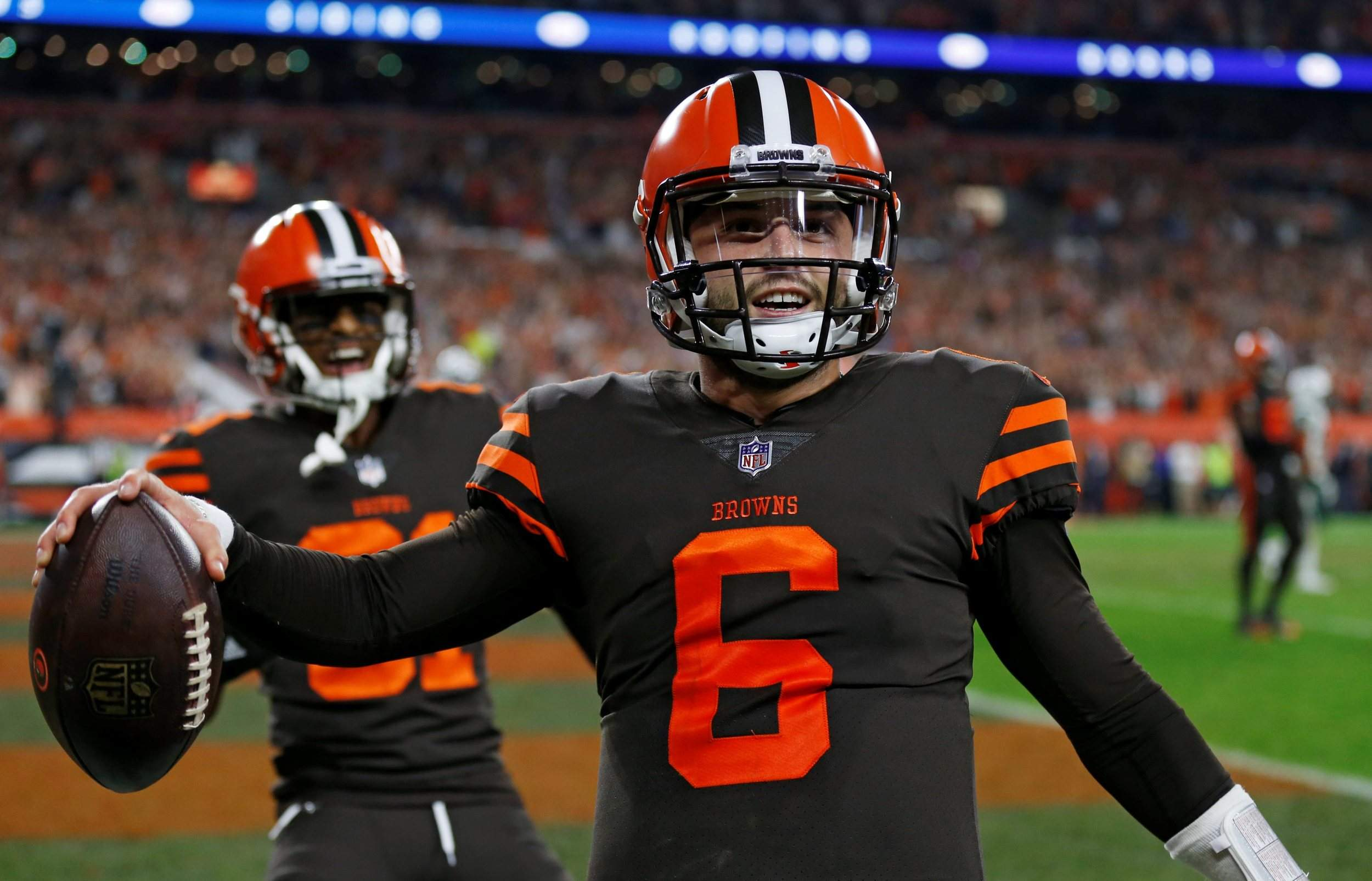 Baker Mayfield Jets >> Browns end drought, as Baker Mayfield dazzles in debut against Jets
