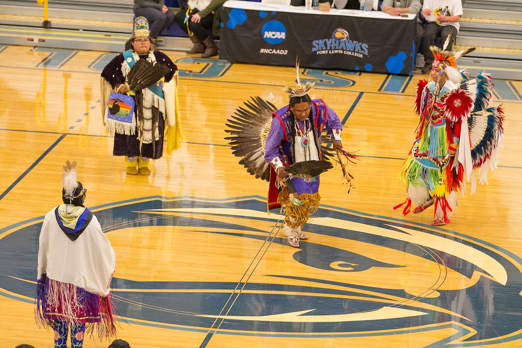 0e1ee1dd Members of the Ute Mountain Ute Tribe Red Sky Dancers perform during  halftime of last year's Nike N7 game at FLC. Wednesday night's home openers  will serve ...
