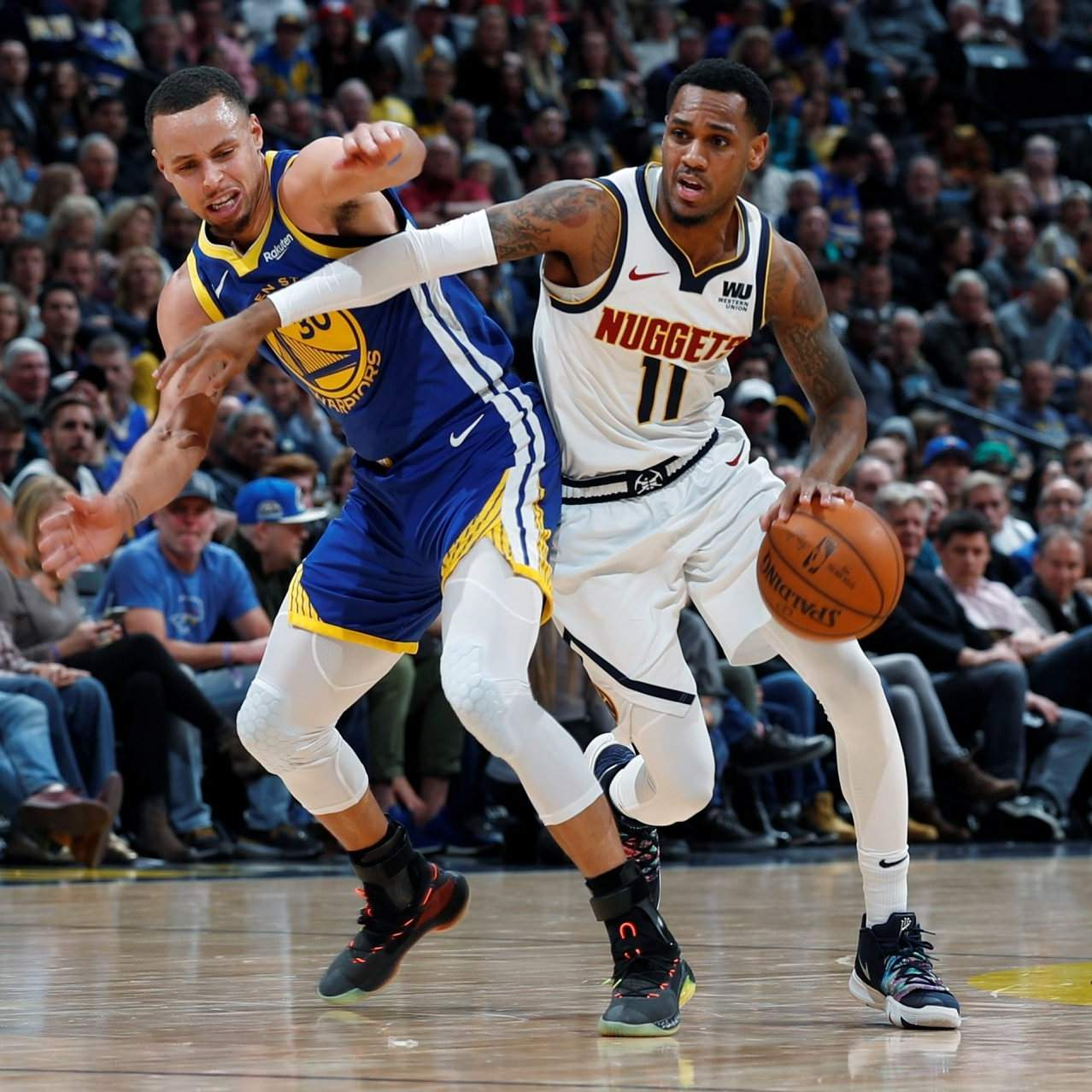 timeless design adbf6 d2c00 Monte Morris the 'gumslinger' for Denver Nuggets
