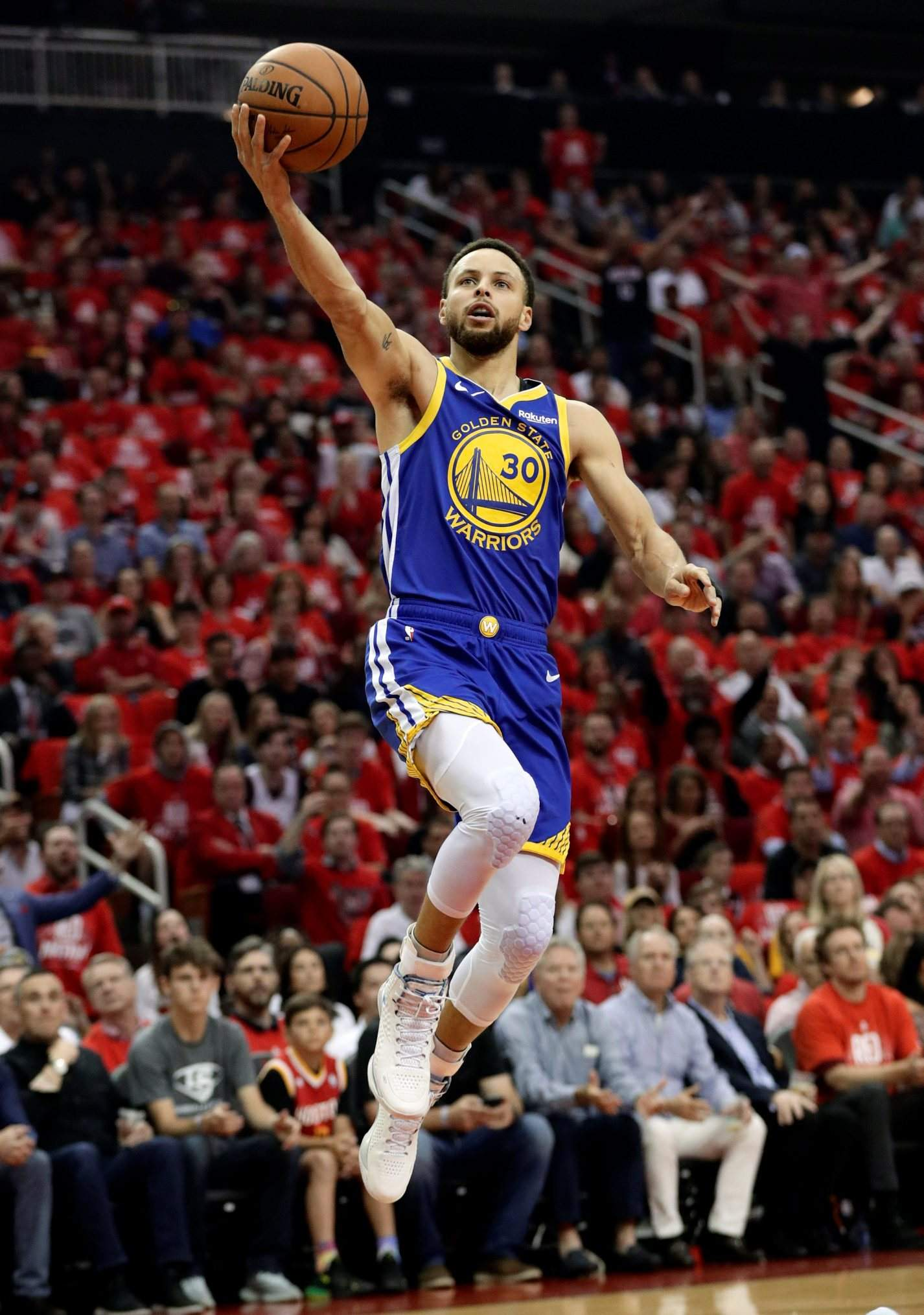 278acb573830 Golden State Warriors guard Stephen Curry shoots during the first half in Game  6 of Friday s second-round playoff series against the Houston Rockets in ...