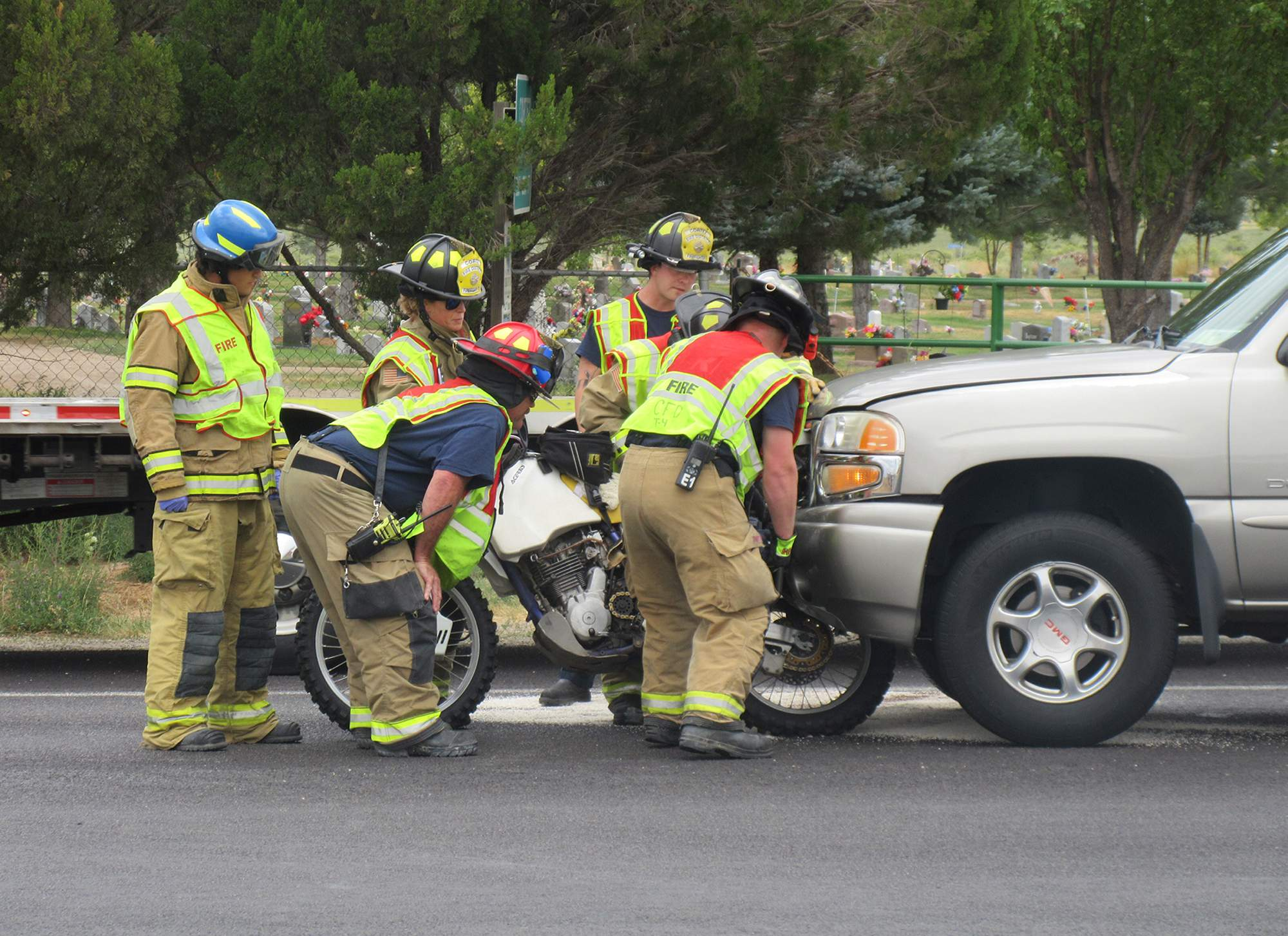 Crash involving motorcycle sends one to hospital