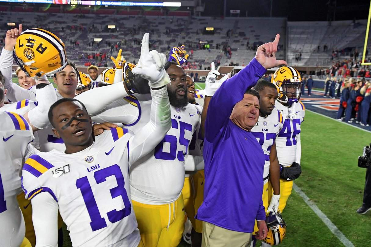 LSU, Ohio State, Clemson, Georgia atop rankings