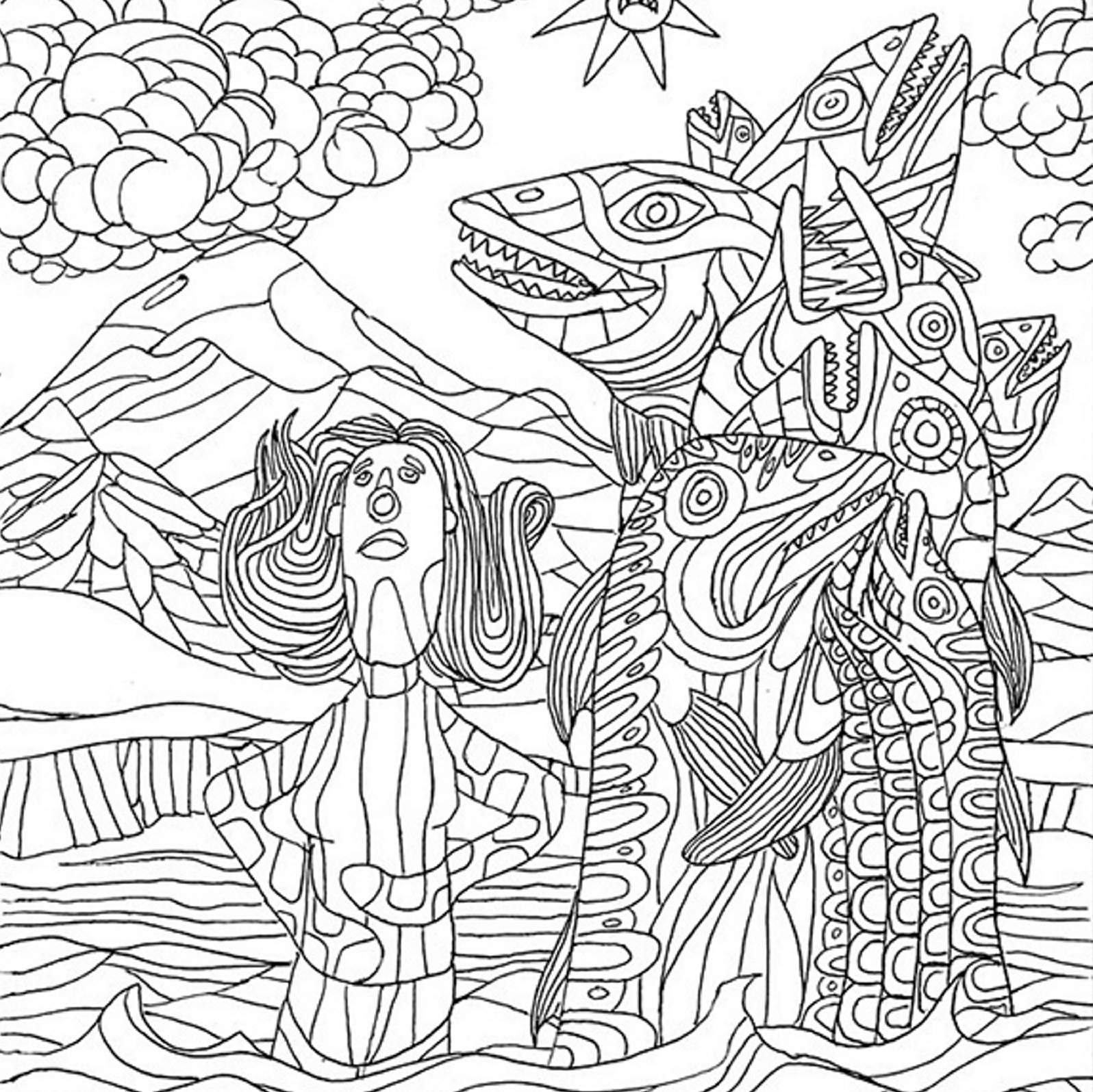 Local Artist Offers Coloring Pages To Download