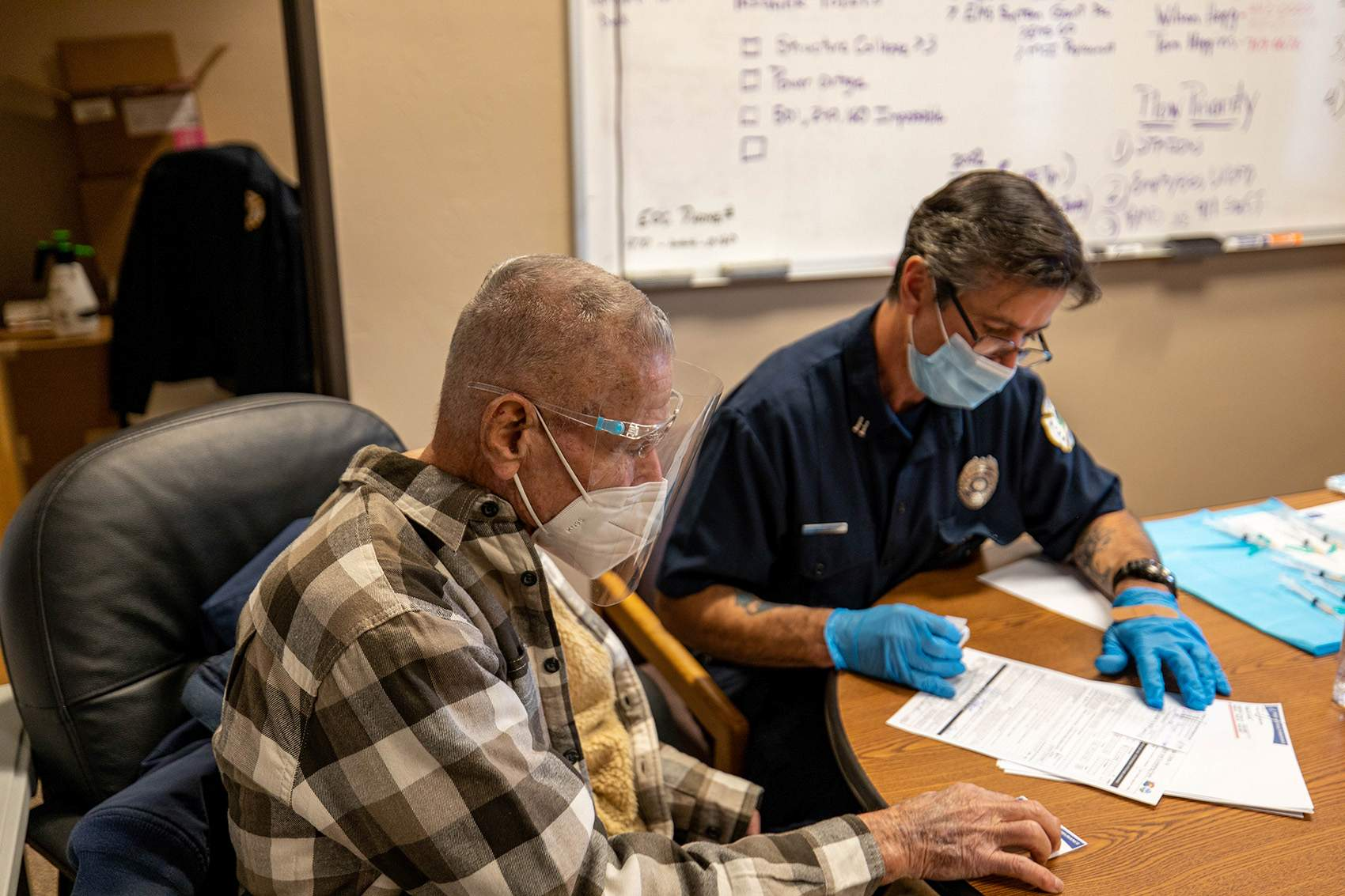 Upper Pine River Fire vaccine clinic up and running